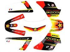 Kit Déco Stickers Rockstar Rouge Jaune PW50 PIWI PEE WEE YAMAHA Haute Qualité 3M