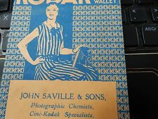 JOHN SAVILLE KODAK DEALER YORK ART DECO FOLDER FOLIO  CAMERA PHOTOGRAPHER g
