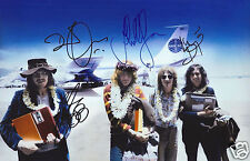 LED ZEPPELIN ENTIRE GROUP AUTOGRAPH SIGNED PP PHOTO POSTER