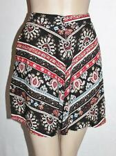 Chica Booti Designer Red Black Print Casual Day Skirt Size 8/XS BNWT #SH25