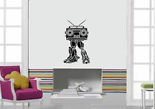 Wall Stickers Vinyl Decal Recorder Robot Music Player ig1386