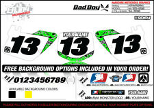 1994-1998 Kawasaki KX125 250 Graphics Number Plate  Backgrounds Badboy Enjoy Mfg