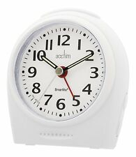 Acctim 14982  Broadway Smartlite Bold White Alarm Clock (our ref4rob)