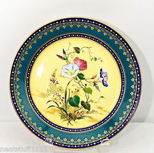 SEVRES 1886 ENAMEL WALL CABINET FLOWER PLATE AMAZING MUSEUM QUALITY SUPER  RARE