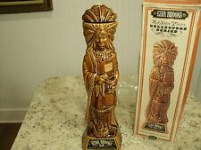 VTG 1968 Ezra Brooks Collector Series Empty Cigar Store Indian Decanter w Box