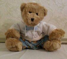 "Large 15"" Sitting Grizzly Bear Stuffed Plush Teddy Aeropostale Athletics Hoodie"