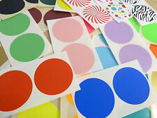 50mm (2 inch) Round Stickers Coloured Circles Circular Sticky Labels 42 colours