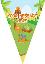 BP36 Dinosaur 10 Flag bunting party decoration 3m Personalised