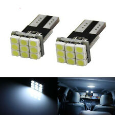 100x 194 168 2825 W5W T10 9SMD Map Dome License Plate White Car LEDs light bulbs