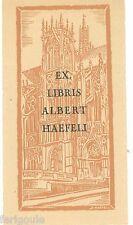 EX-LIBRIS d'Albert HAEFELI pour lui-même.