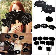 10 xPcs Photo Booth Prop DIY Bubble Speech Chalk Board Wedding Party Photobooth