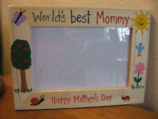 WORLDS BEST MOMMY - Mother's Day Mom Grandma children baby photo picture frame
