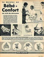 PUBLICITE ADVERTISING 034   1963   BEBE-CONFORT  sièges accessoires bébé