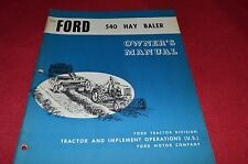 Ford Tractor 540 Hay Baler Operator's Manual CHPA