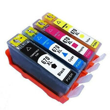 4 Pack Ink Cartridge HP 670XL for HP Printer Deskjet 3525 4615 4625 5525 6525