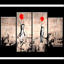 Large Banksy Elbow & Idris Elba Syria tribute Canvas 110cm Red Balloon Girl Kids