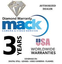 MACK 3YR Diamond Warranty for Digital Still,Video, Lens, Flash Under $3000