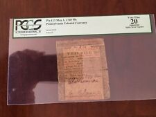 Ben Franklin Pennsylvania Colonial Currency Pa-113. 1760 50shil