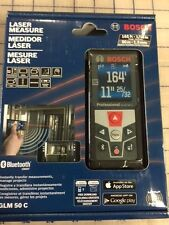 Bosch GLM 50 C Bluetooth Enabled Laser Distance Measurer with Color Backlit D...