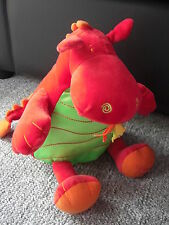 WARWICK CASTLE RED GREEN ORANGE DRAGON SOFT TOY TAREMA RATTLE JUST TICKET EASTER