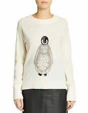 NWT French Connection Penguin Wool-Blend Sweater, Medium, White, $138