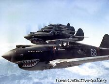 3rd Squad Hell's Angels Flying Tigers over China WWII 1942  Historic Photo Print