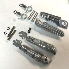 Silver Front Rear Foot Peg Footrest Kit For Honda CBR 1000RR 600RR CB 1000R