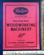 Vintage 1943-1963 Fay & Egan Woodworking Machine Book Catalog