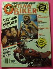 OUTLAW BIKER MAGAZINE AUG/1989...DAYTONA DARLIN'S..SPECIAL COLLECTOR'S ISSUE