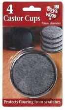 4 X Grande Negro Acolchado Protector De Muebles Silla Castor Tazas Suelo