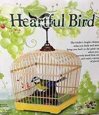 Qualité électronique oiseau chantant moving chant jouet pet oiseau en cage