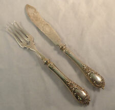 Ornate German 800 Sterling Fish Set By Bruckmann & Sohne