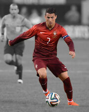 Portugal CRISTIANO RONALDO Glossy 8x10 Photo Spotlight Poster Football Print