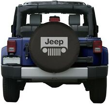 "Black Jeep Wrangler Grill Spare Tire Cover Wheel R17 32"" New Free Shipping USA"