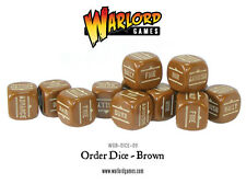 BOLT ACTION ORDER DICE - BROWN - WW2 - SENT FIRST CLASS -