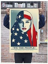 Shepard Fairey Greater Than Fear Signed print poster Obey Trump We The People