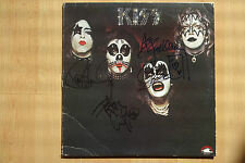 "KISS AUTOGRAFI SIGNED LP-COVER ""KISS"" vinile"