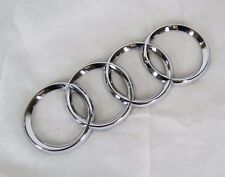 AUDI A6 CHROME RINGS EMBLEM 05-11 WAGON / 05-08 SEDAN REAR TRUNK OEM BADGE
