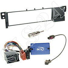 Alpine Lenkradinterface+BMW 3er E46 Radio Blende 03/1998-2005 +Fakra Antenne SET