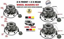 FOR LAND ROVER DISCOVERY 1998-2004 2 X FRONT & 2 X REAR WHEEL BEARING HUB KITS