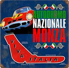 Autodromo Monza rusted steel sign  300mm x 300mm   (pst 1212)