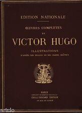 Oeuvres complètes de Victor Hugo - vol 3 - avec 12 gravures anciennes