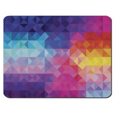RAINBOW TRIANGLES PC Computer Mousemat Mouse Mat Pad Gift Aztec Tribal Retro