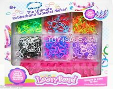 Rainbow Loom 1200 Bands + Bracelet Complete Kit Set