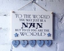 Nan Wooden Sign. Personalised. Gift For Nana Grandpa Etc Great For Mothers Day
