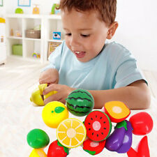 Set Cutting Fruit Vegetable Preten Play Children Kinder Educational Spielzeug DE