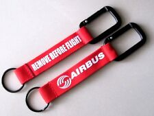 REMOVE BEFORE FLIGHT SNAP LINK  FABRIC TAGS KEY-CHAIN KEYRING SIZE 6''