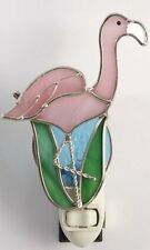 Flamingo Stained Glass Night Light
