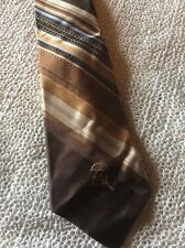 "Nice Tie By Countess Mara. Fabric Poly I Think Brown Stripe Themed. 3 3/4"" X 54"""
