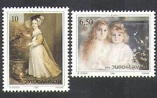Yugoslavia 1990 Europe/Art/Artists/Paintings/Royalty/Dog 2v set (n37763)